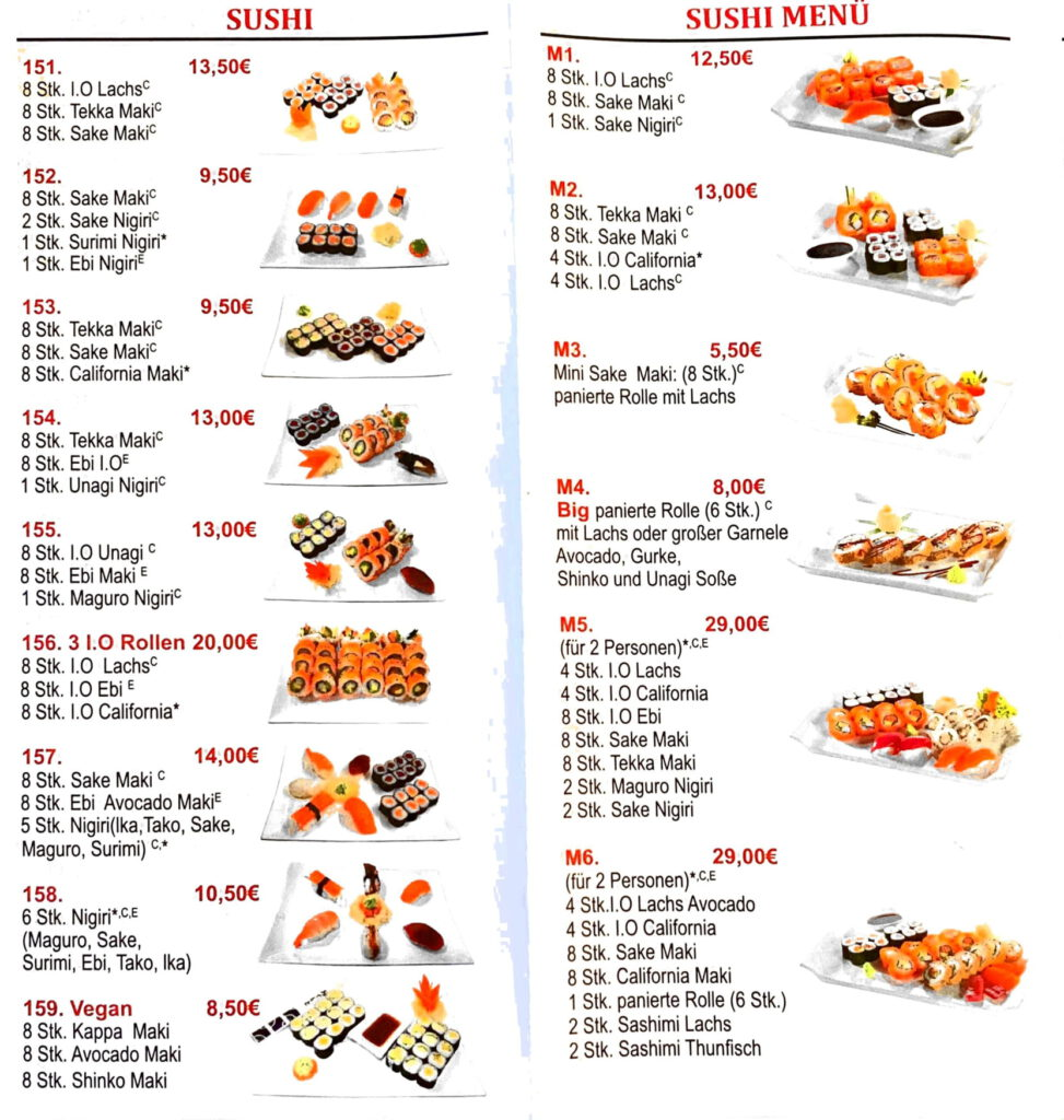 5 günstige asiatische Küche leckere japanische Sushi Bar feine Mittagessen