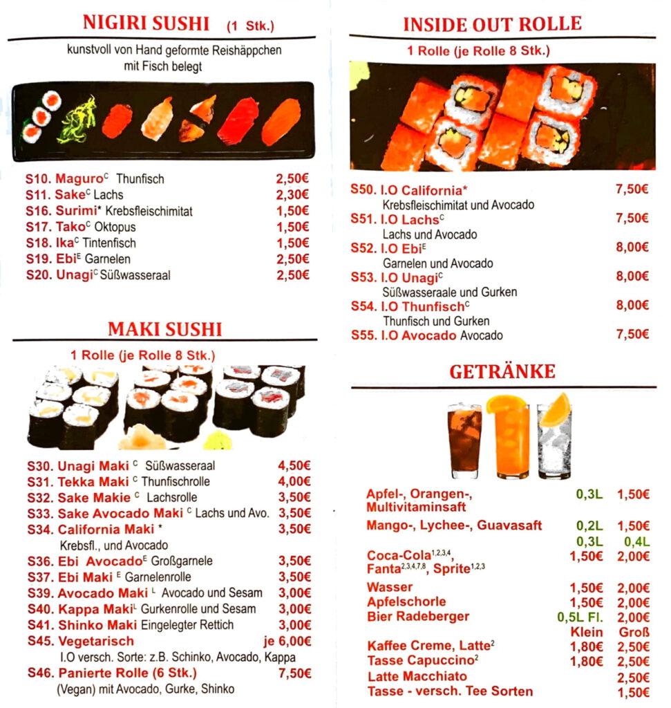 6 günstige asiatische Küche leckere japanische Sushi Bar feine Mittagessen