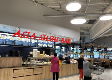 leckere fische asiatische frische Sushi Gerichte günstige Mittagessen franchise warme Essen